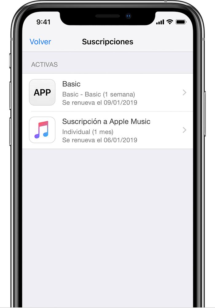 5de9020844f Un iPhone X en el que se muestran suscripciones a HBO NOW, Apple Music y