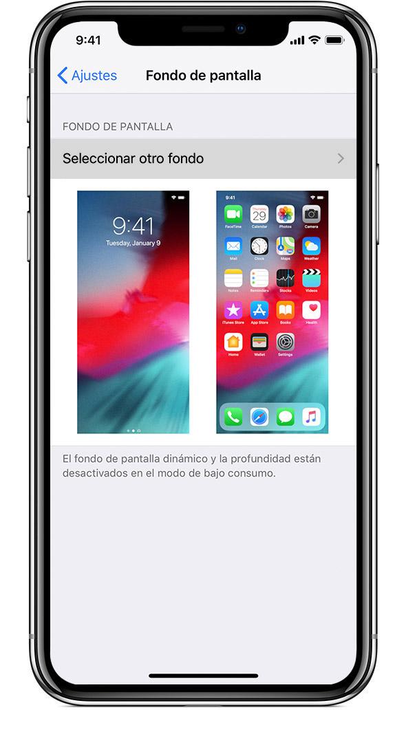 e3e52541625 Abrir Ajustes en el iPhone. En Ajustes, pulsa Fondo de pantalla >  Seleccionar otro fondo.