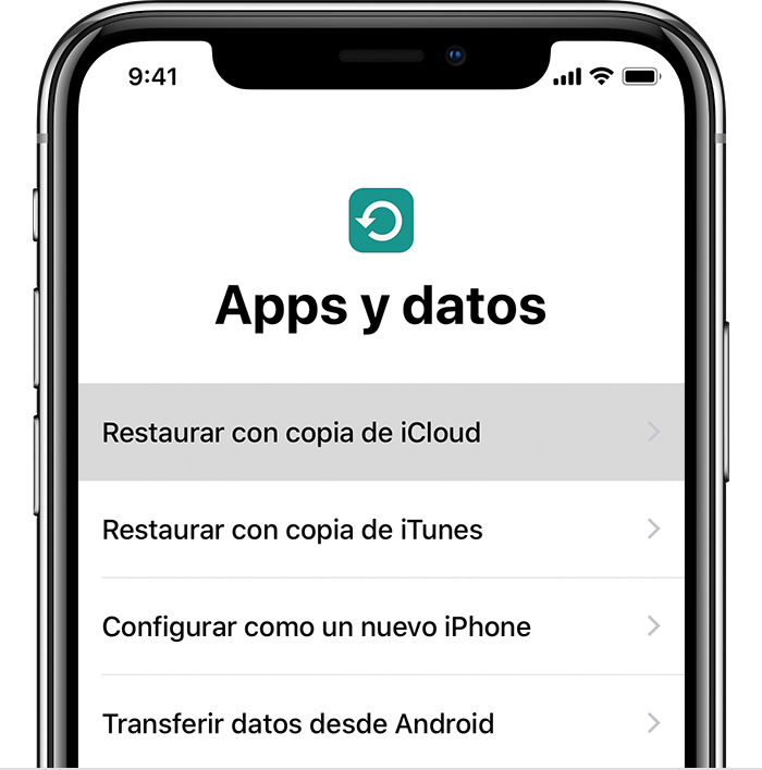 Recuperar copia de seguridad de android a iphone desde pc