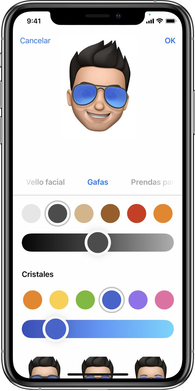 iPhone que muestra cómo crear un Memoji