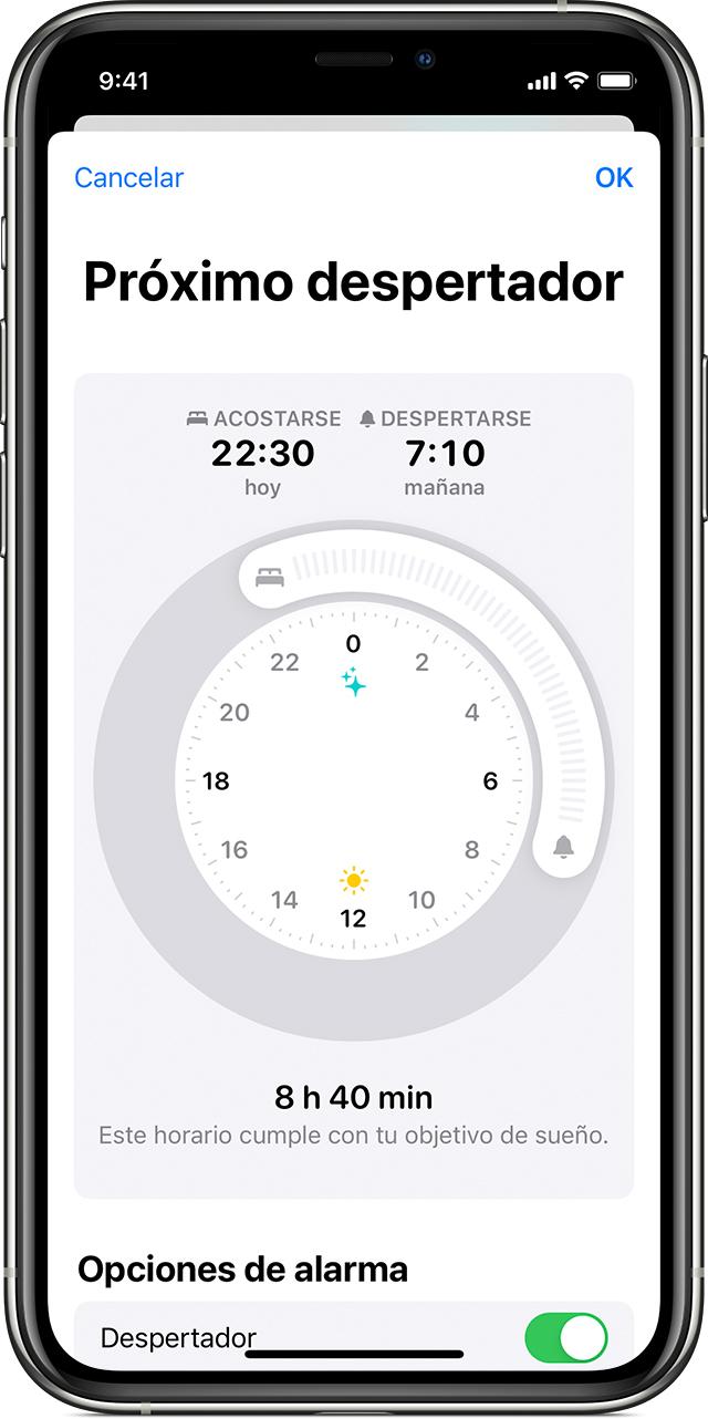 Editar Próximo despertador en el iPhone