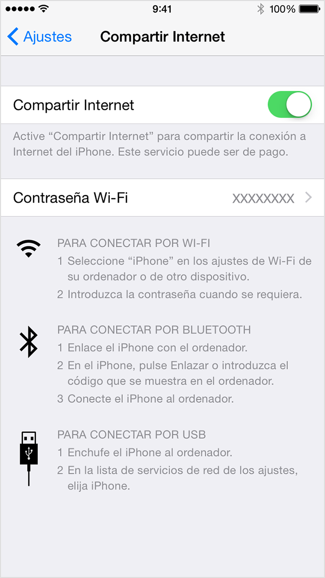 configuración iphone wifi internet
