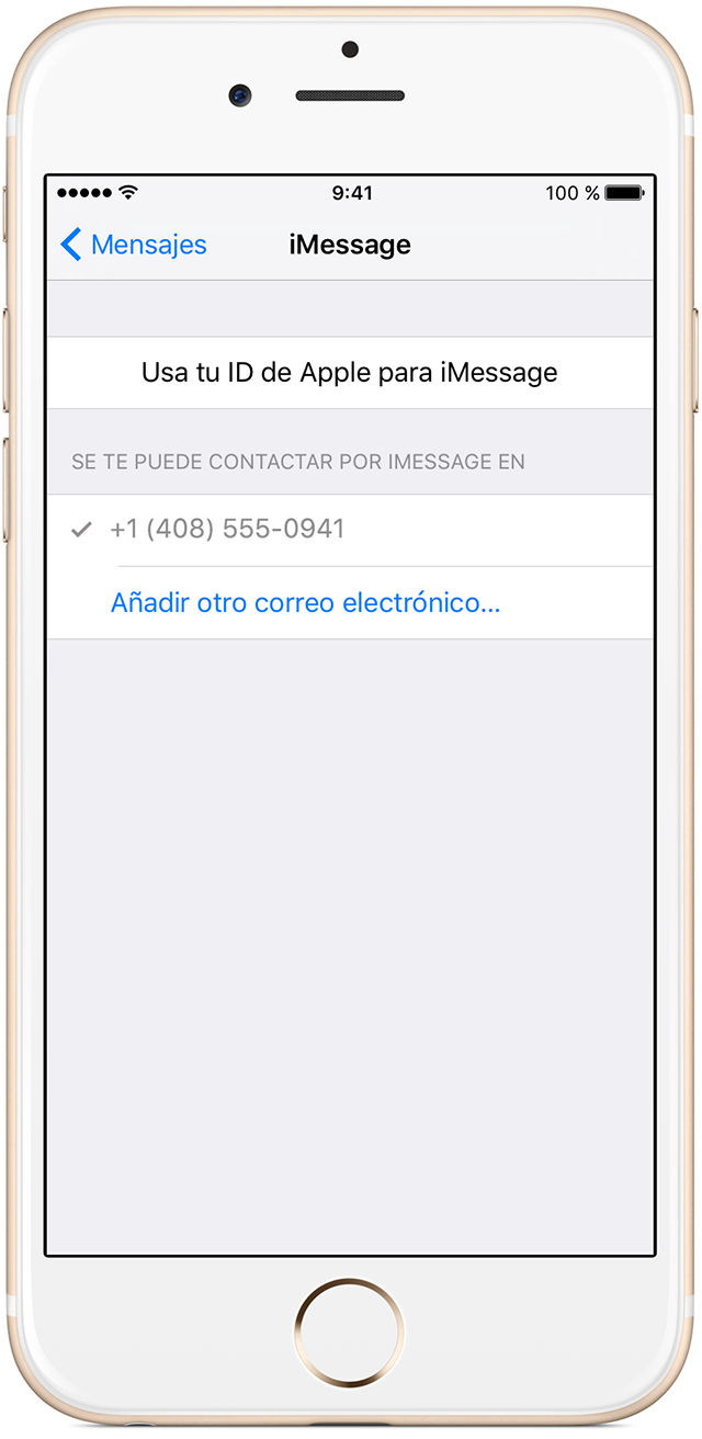 Los ajustes para iMessage en iPhone 6s