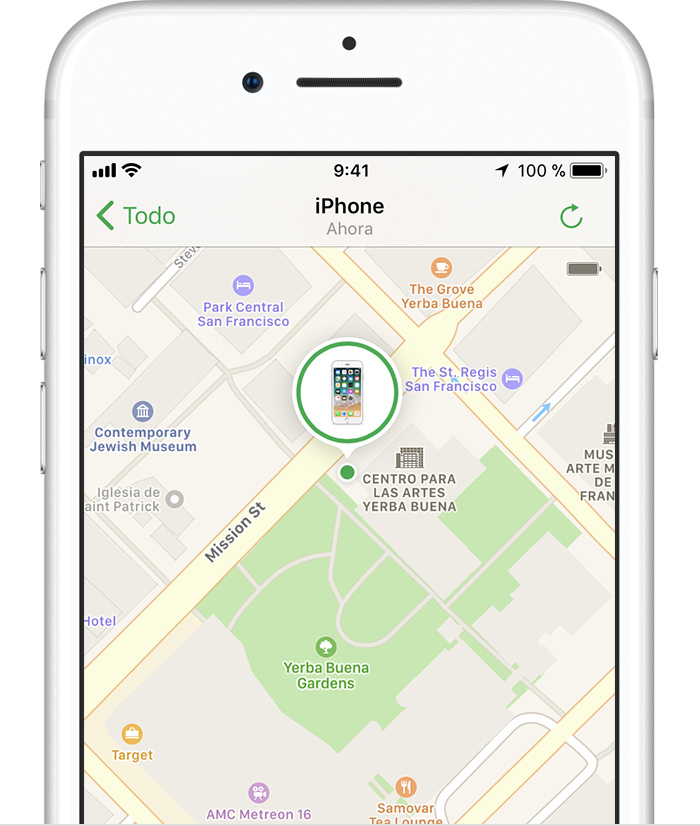 Si Buscar mi iPhone está activado en el dispositivo perdido