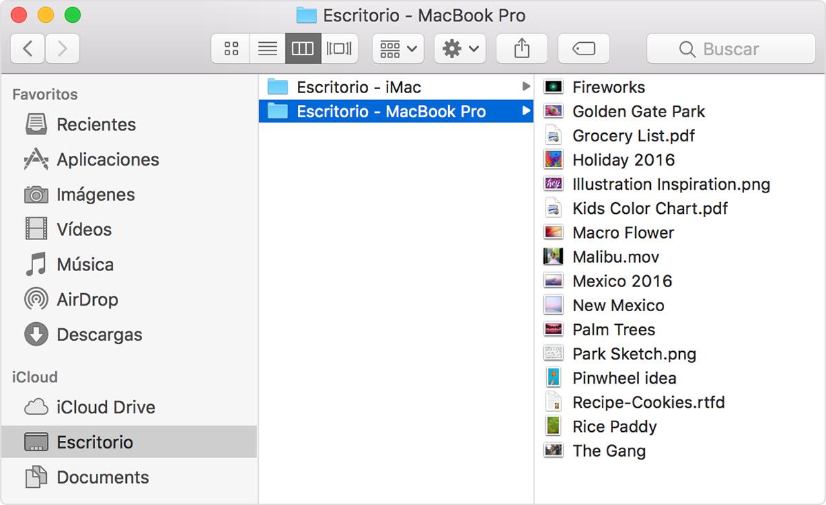 Agregar archivos de Escritorio y Documentos a iCloud Drive - Soporte ...