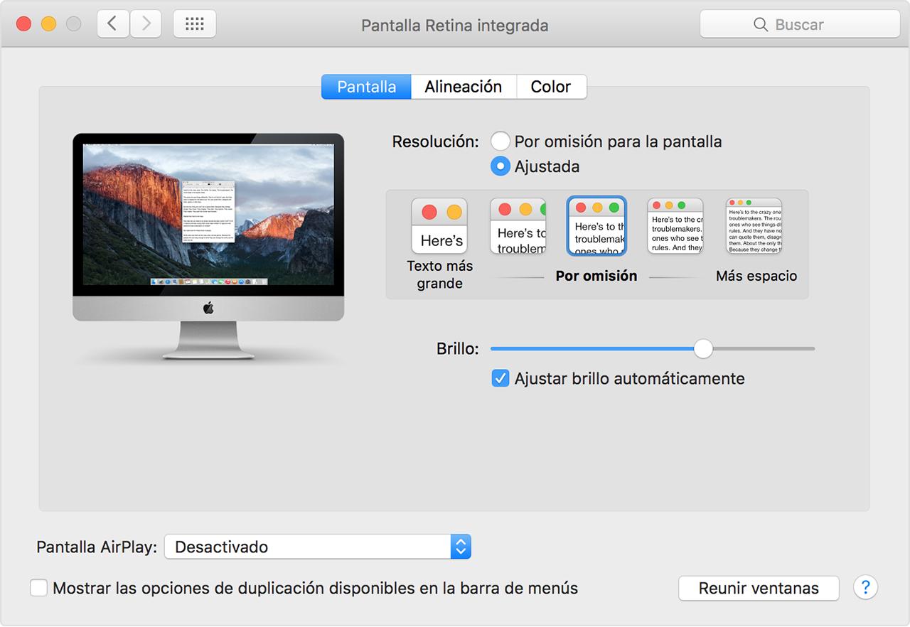Usar una pantalla Retina - Soporte técnico de Apple