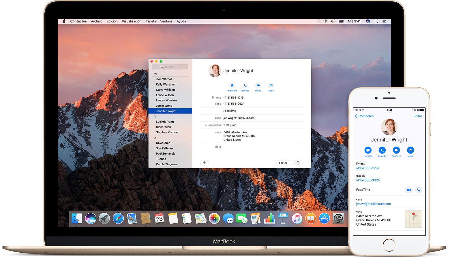 Mantener los contactos actualizados en tus dispositivos con iCloud ...