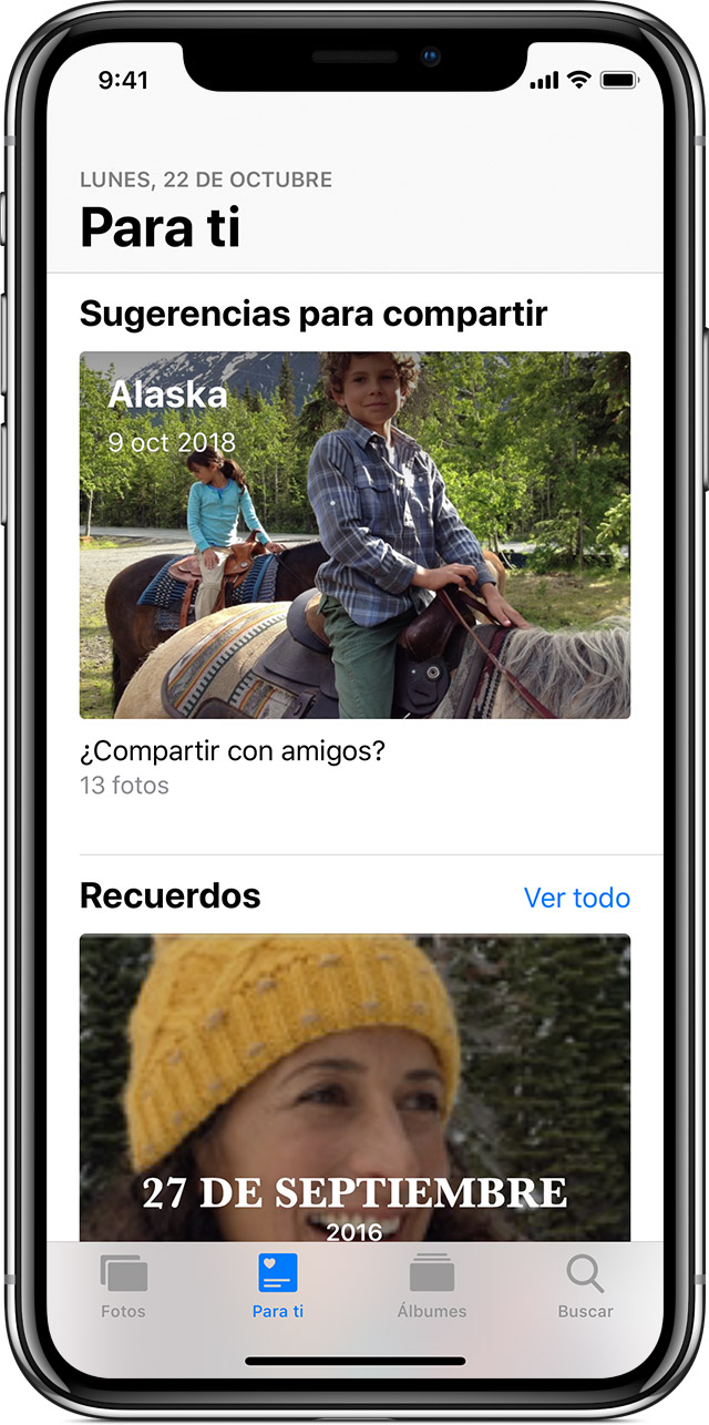 Sugerencias para compartir con el iPhone