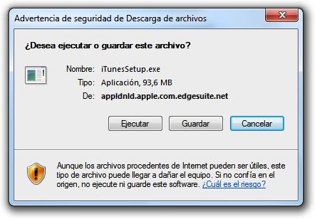 Texto de la ventana Descarga de archivos: