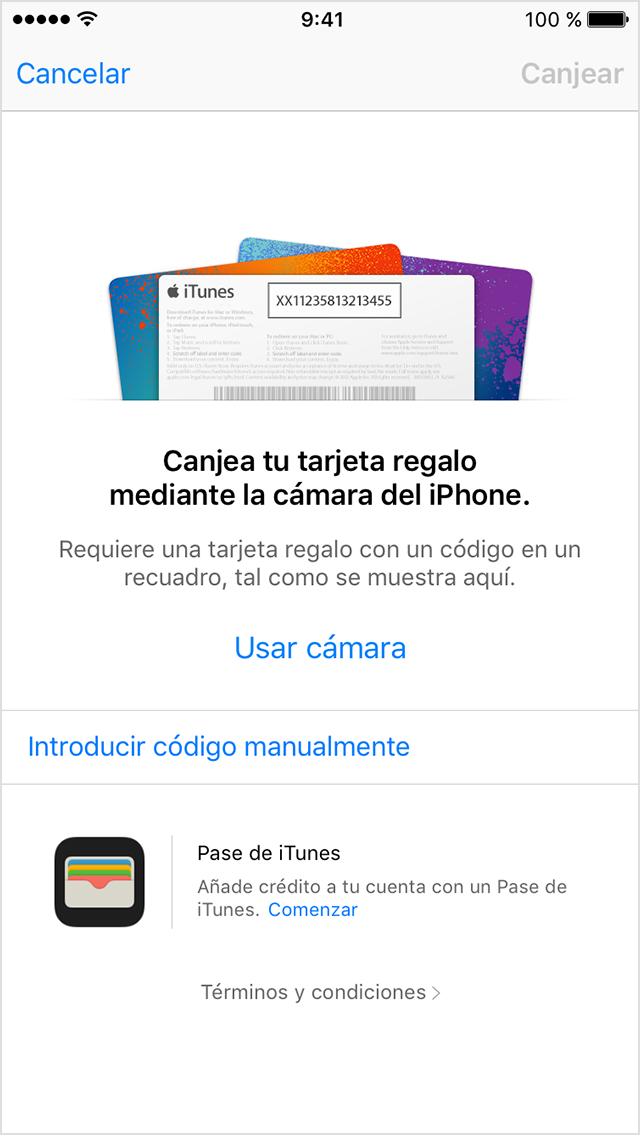 Tarjeta Regalo Apple Numero