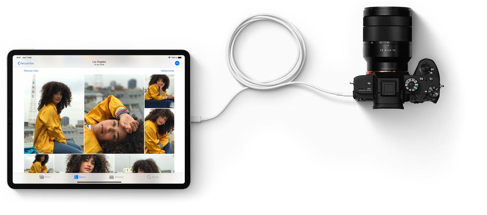 4d1a5e72af2fb Cargar y conectar con el puerto USB-C del nuevo iPad Pro - Soporte ...