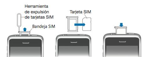 Extraer la tarjeta SIM del iPhone o el iPad