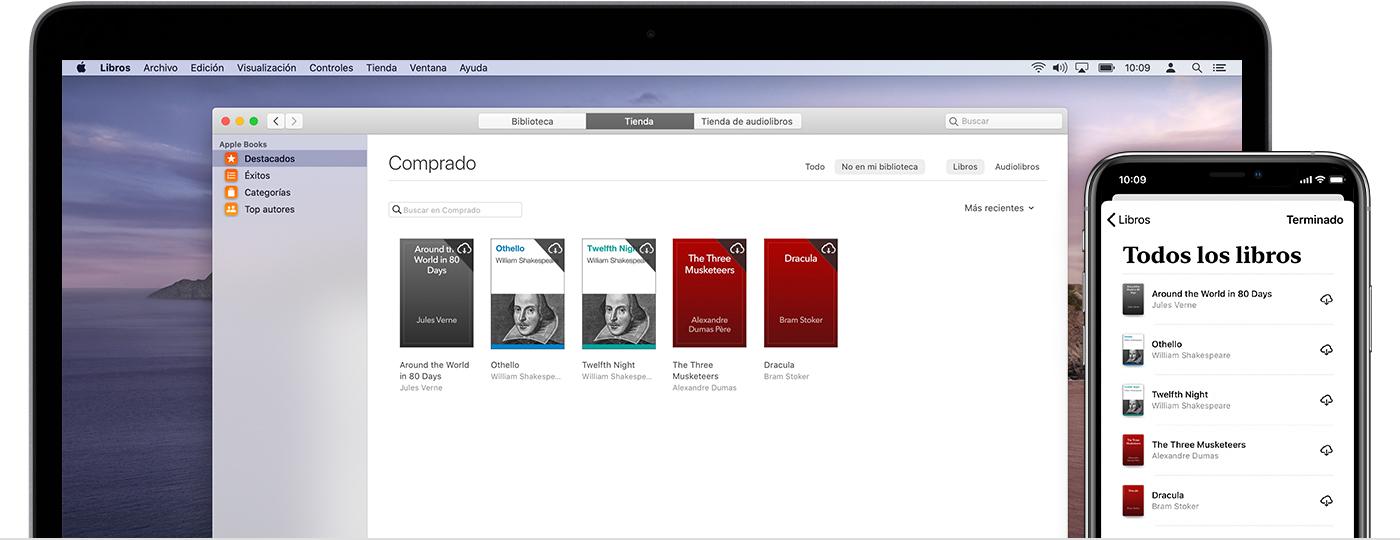 iPhone y Mac con libros comprados que se pueden volver a descargar, incluido Dare to Lead.