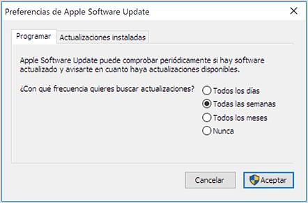 Cómo usar Apple Software Update para Windows - Soporte