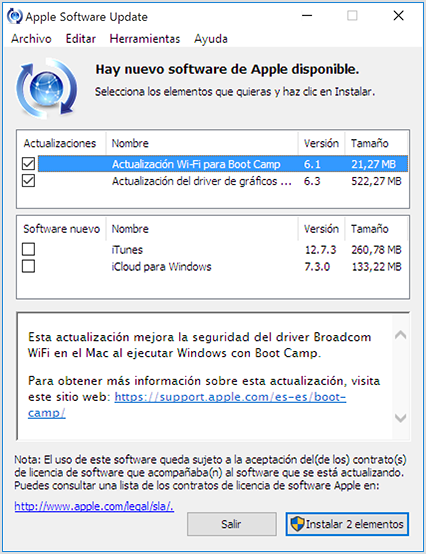 Cómo usar Apple Software Update para Windows - Soporte