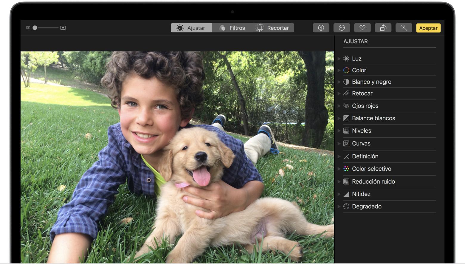 Cómo editar fotos en el Mac - Soporte técnico de Apple