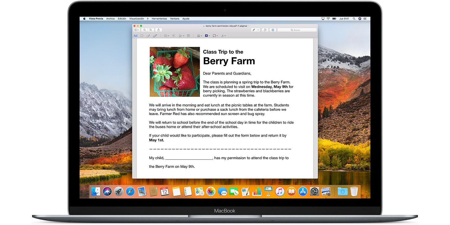 Cómo editar imágenes y marcar documentos PDF con Vista previa en el ...