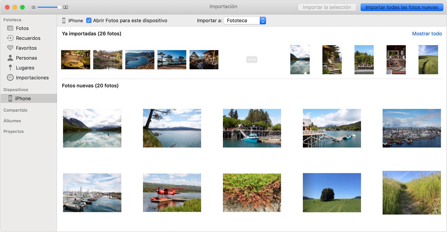 como pasar las fotos de mi iphone 6 al mac