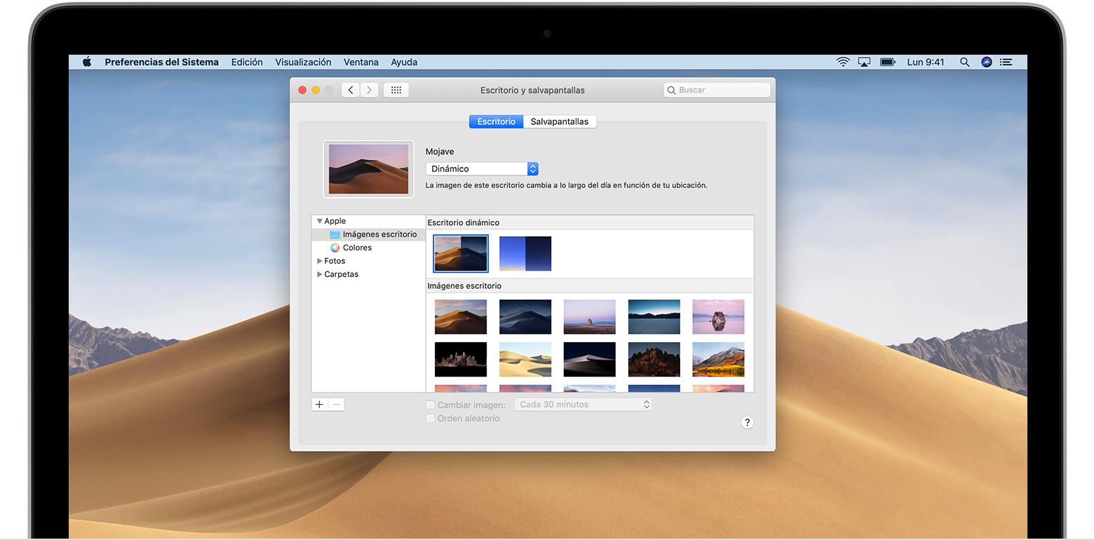Cambia la imagen del escritorio fondo del mac soporte for Fondo de pantalla que cambia segun la hora del dia