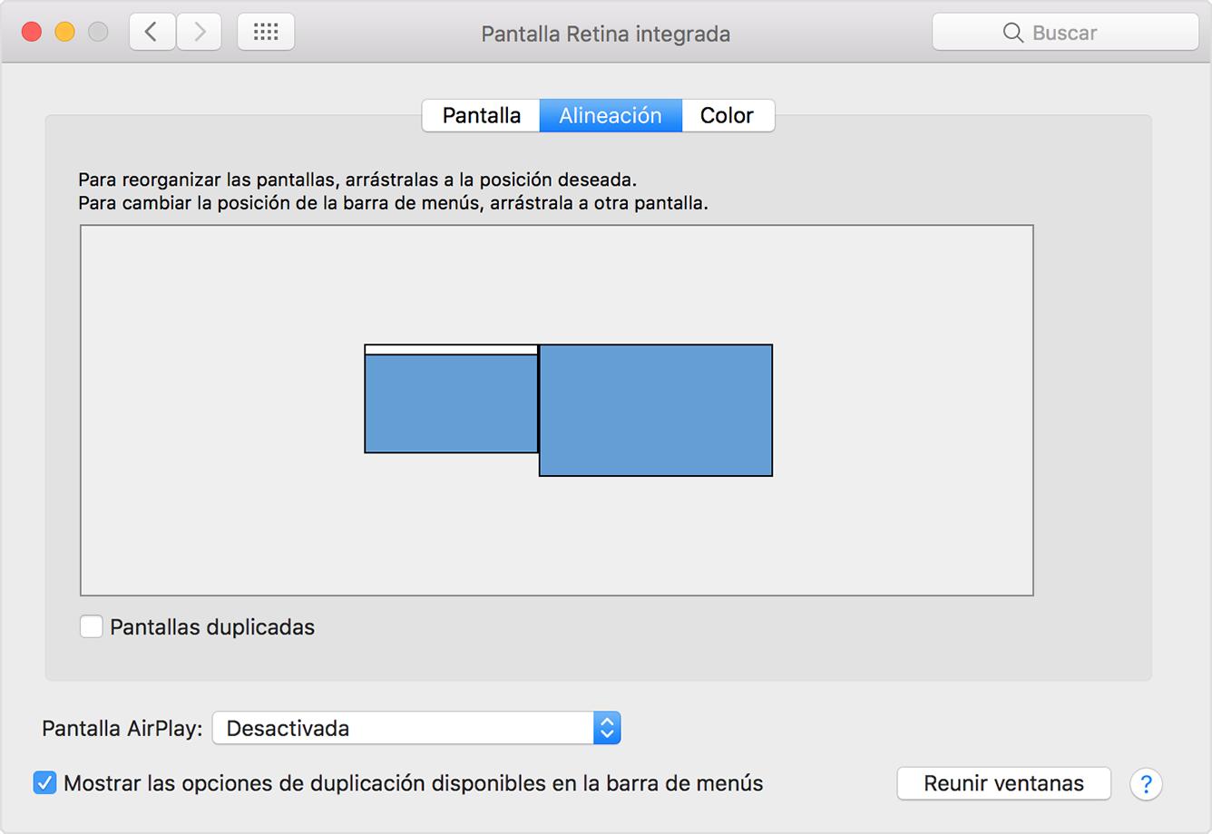 Usar varias pantallas con el Mac - Soporte técnico de Apple