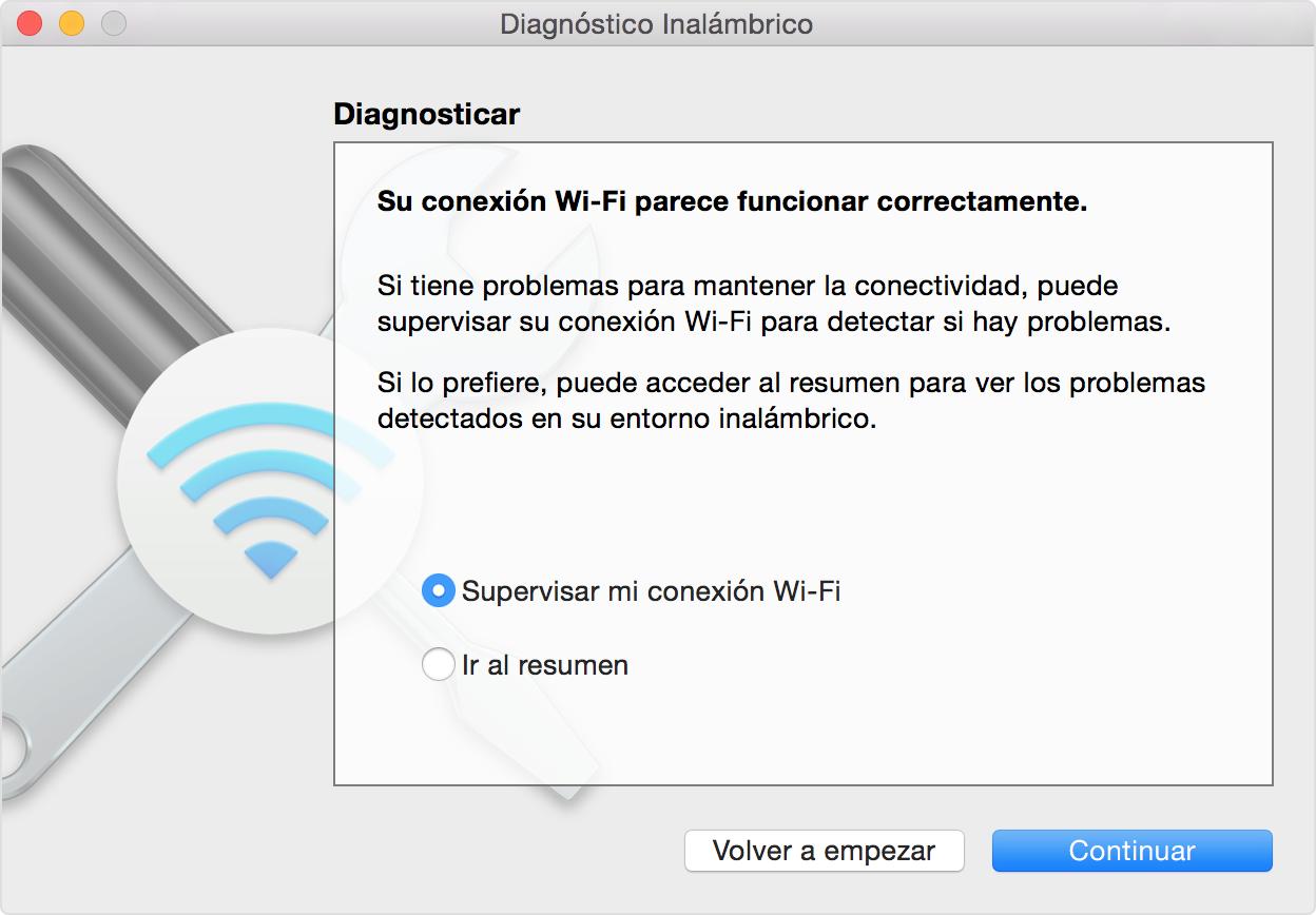 Comprobar si hay problemas con la red Wi-Fi al utilizar el Mac ...