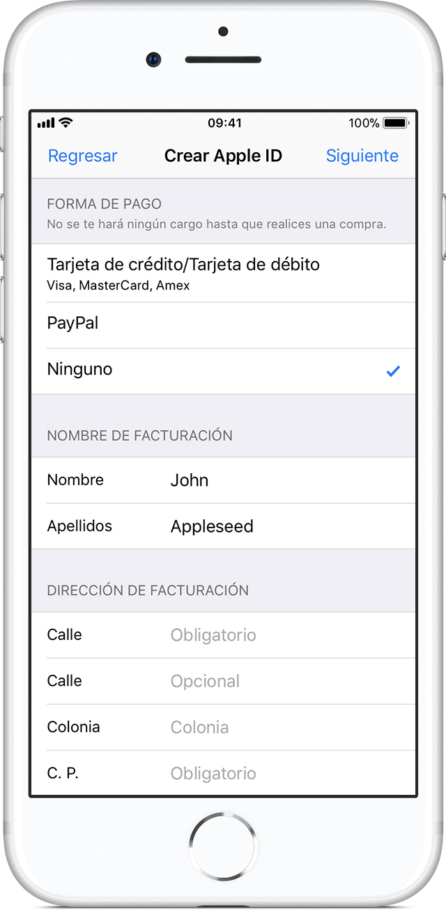 how to add a none payment apple id