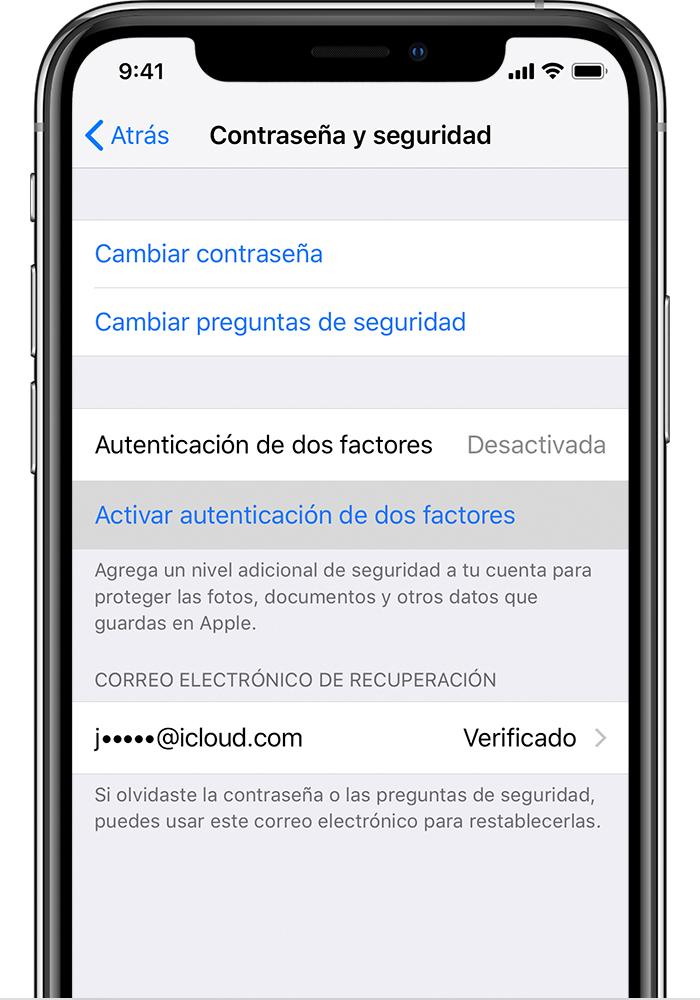 6178a58b567 Autenticación de dos factores para Apple ID - Soporte técnico ...