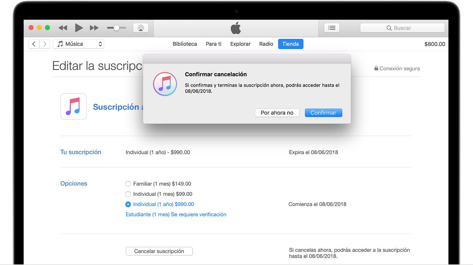 Administrar la suscripción a Apple Music desde tu iPhone, iPad, iPod ...