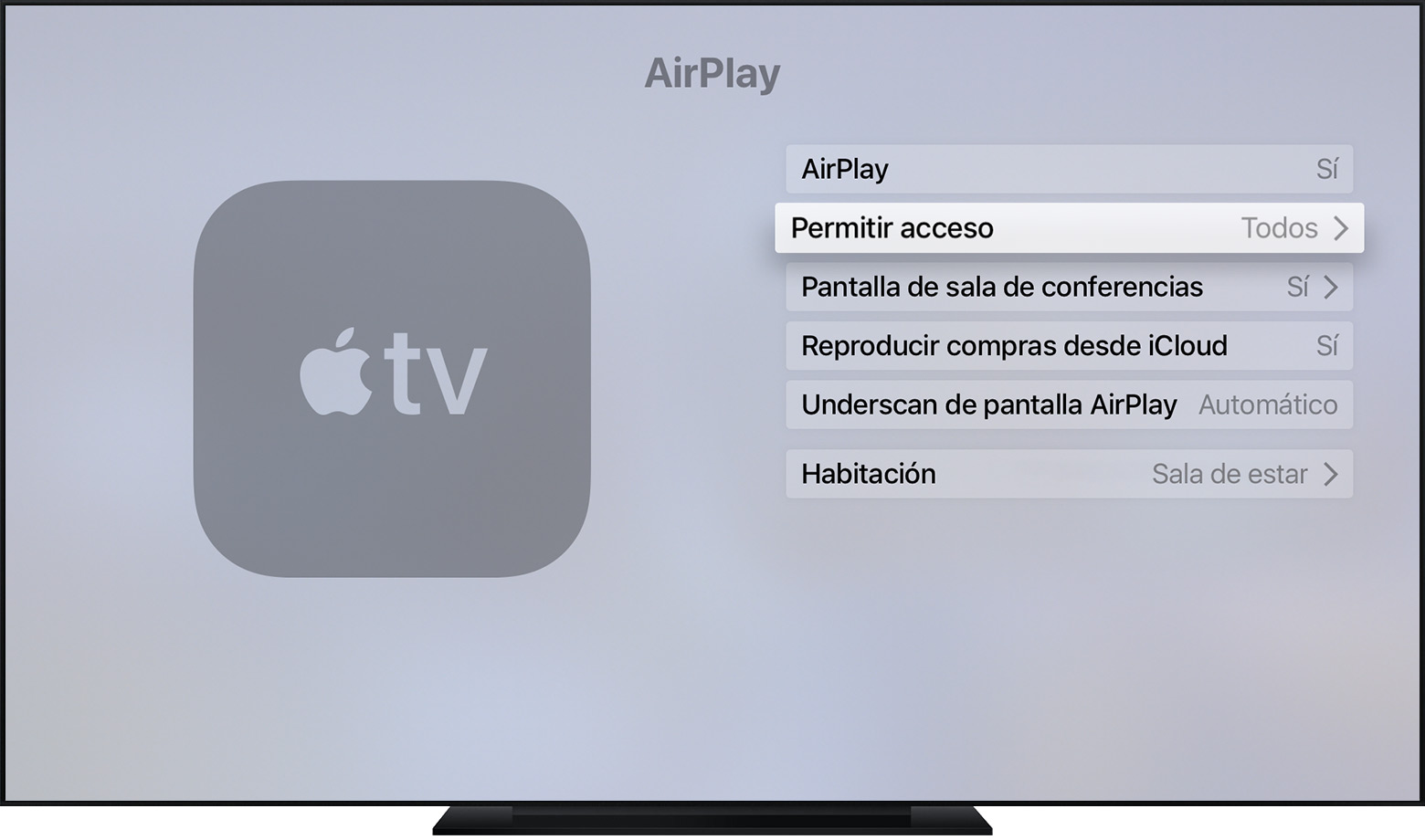 compartir pantalla mac apple tv