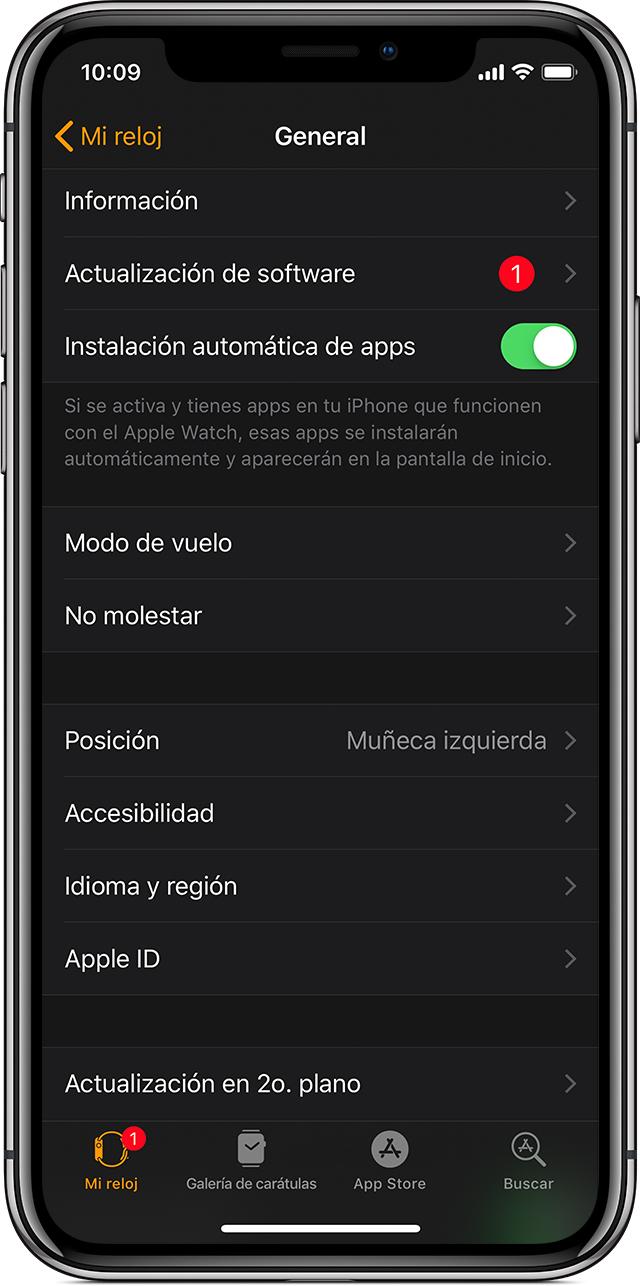 Actualizar el Apple Watch - Soporte técnico de Apple
