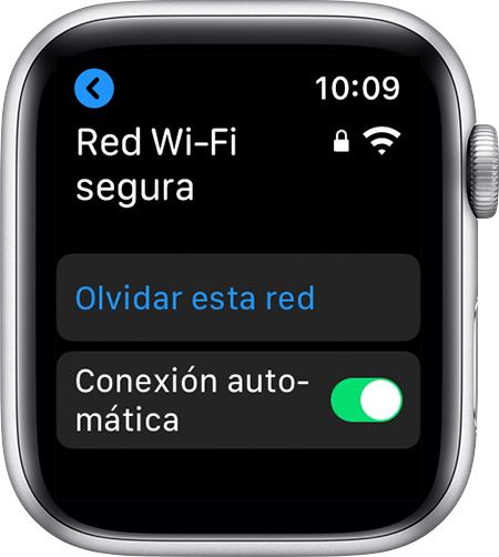 Opción Olvidar esta red en el AppleWatch