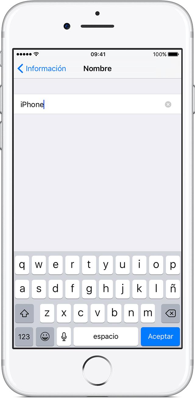 Cambiar el nombre de tu iPhone, iPad o iPod - Soporte técnico de Apple
