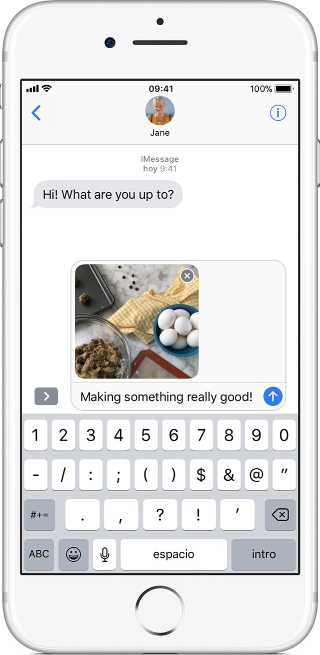 Enviar mensajes de foto, video o audio en el iPhone, iPad o iPod ...