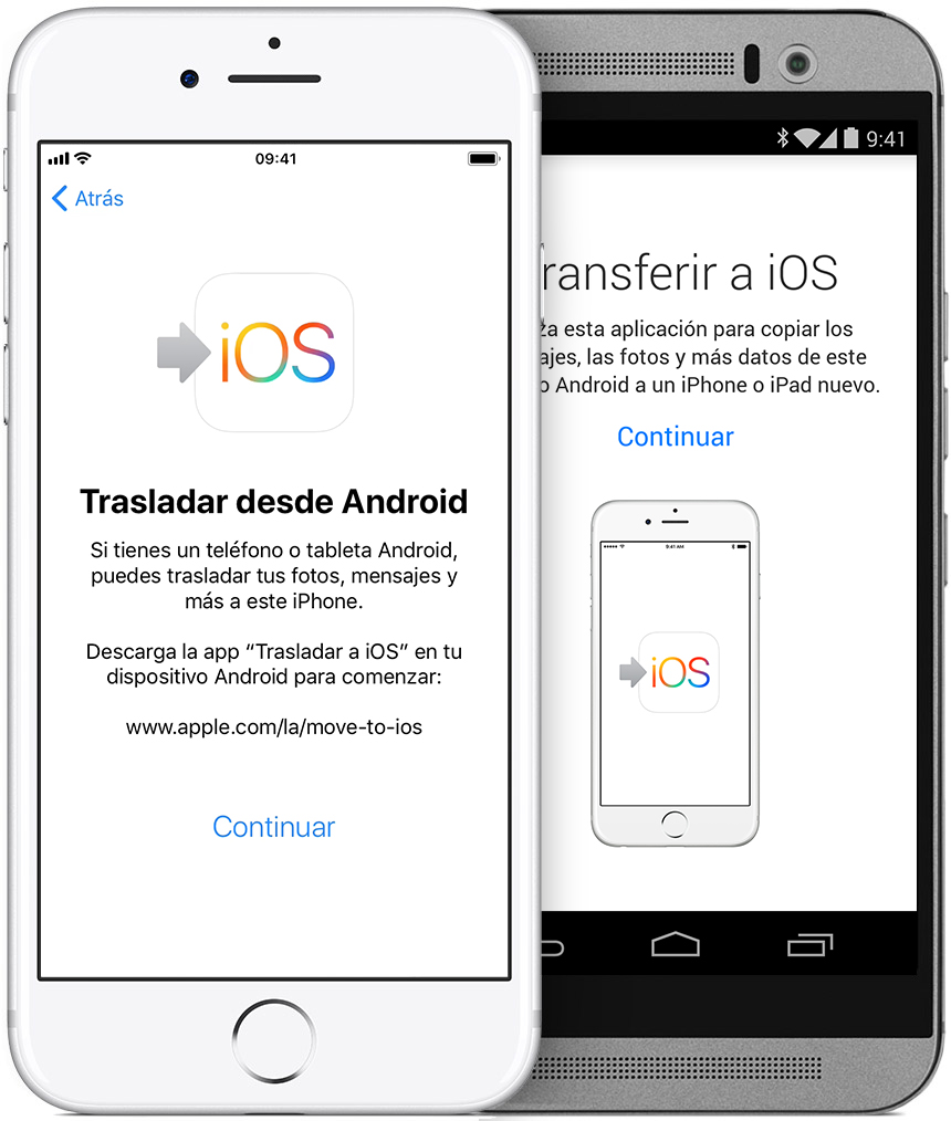 Trasladar contenido de Android a iPhone, iPad o iPod touch ...