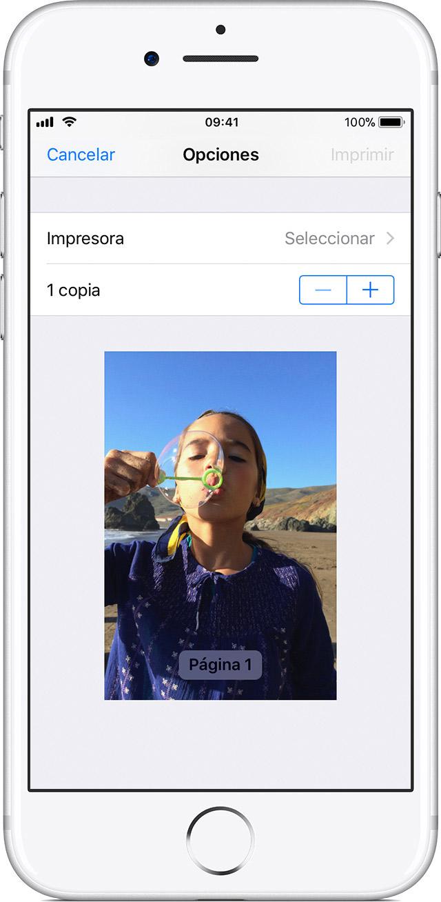 Usar AirPrint para imprimir contenido desde un iPhone, iPad o iPod ...