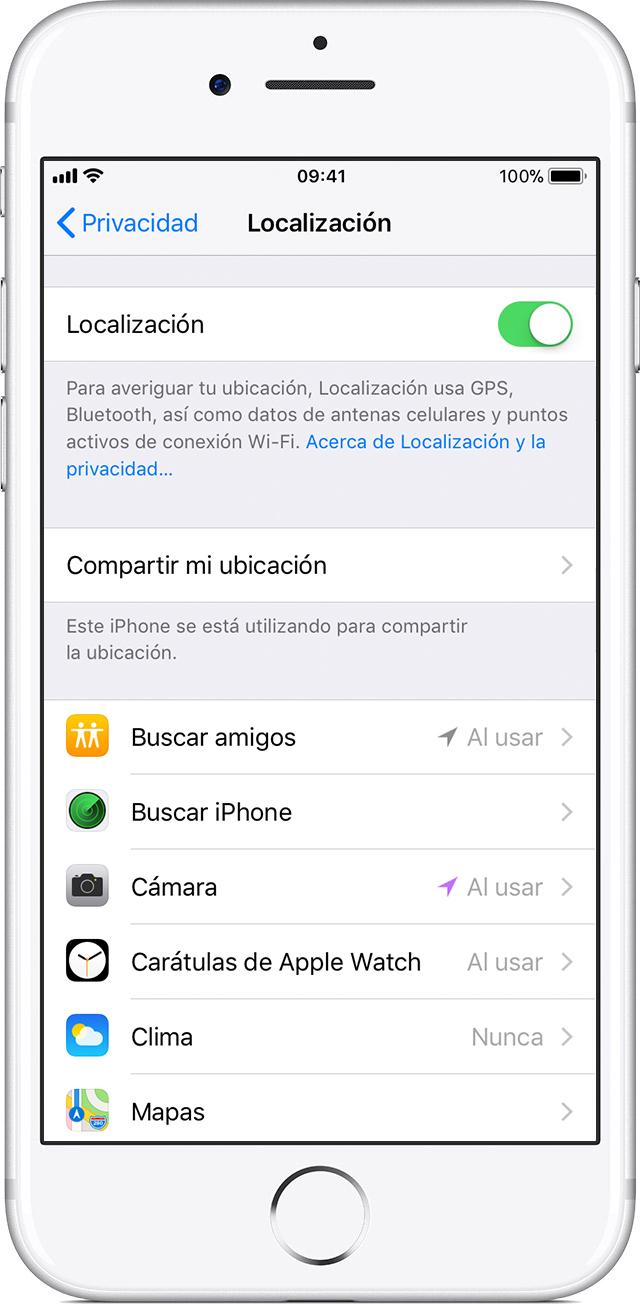 rastrear gps iphone 8 Plus