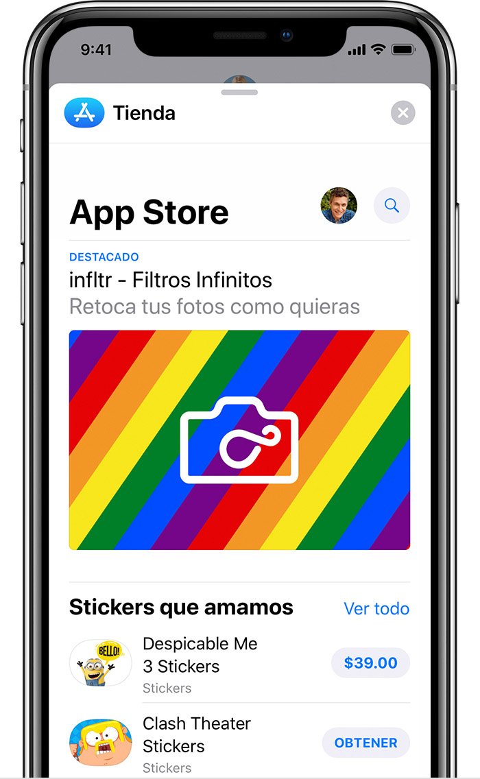 Descargar apps de iMessage