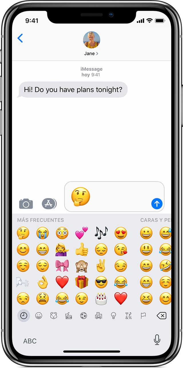 Utilizar emoji en tu iPhone, iPad o iPod touch - Soporte
