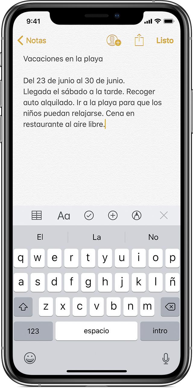 Usar Notas En Un Iphone Ipad Y Ipod Touch Soporte