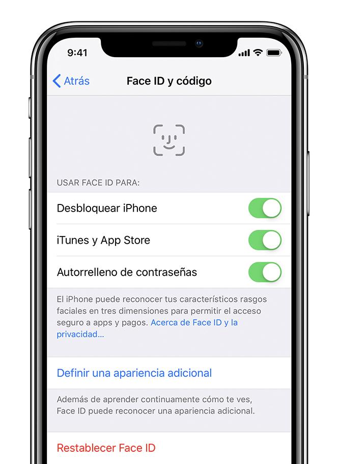7183e4bbf59 Si Face ID no funciona en el iPhone o el iPad Pro - Soporte té ...