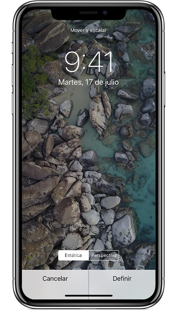 66145bda0de Necesitas un iPhone 6s o posterior para usar fondos de pantallas Live Photo  y Live.