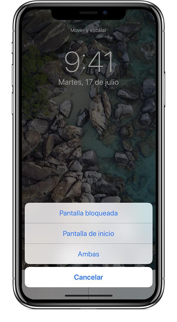 232ea4a4067 Para ver el fondo de pantalla nuevo, bloquea el iPhone o mira la pantalla  de inicio.