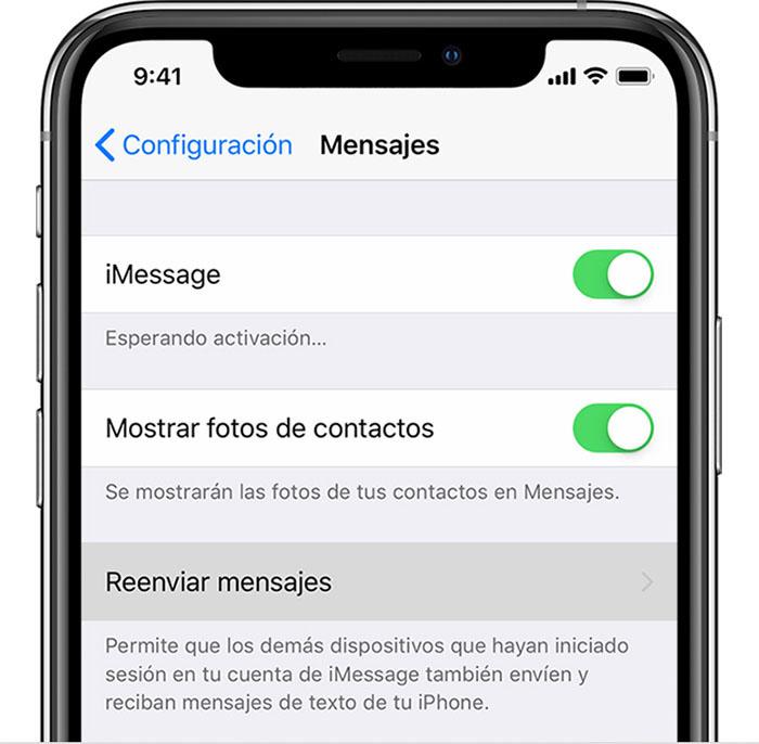 Reenviar mensajes de texto anteriores