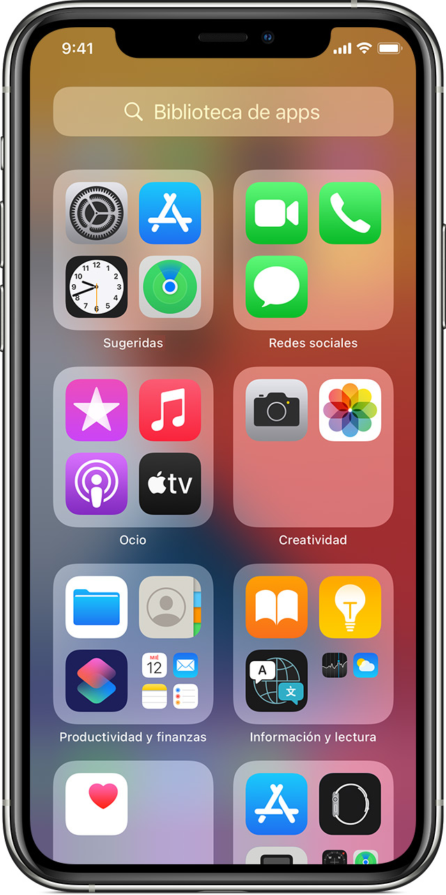 Organizar La Pantalla De Inicio Y La Biblioteca De Apps En El Iphone Soporte Técnico De Apple