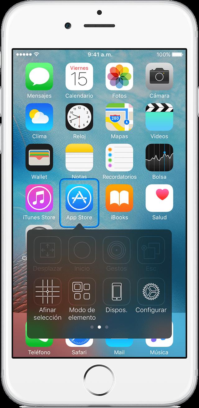 Usar Control por botón para navegar en tu iPhone, iPad o iPod touch ...