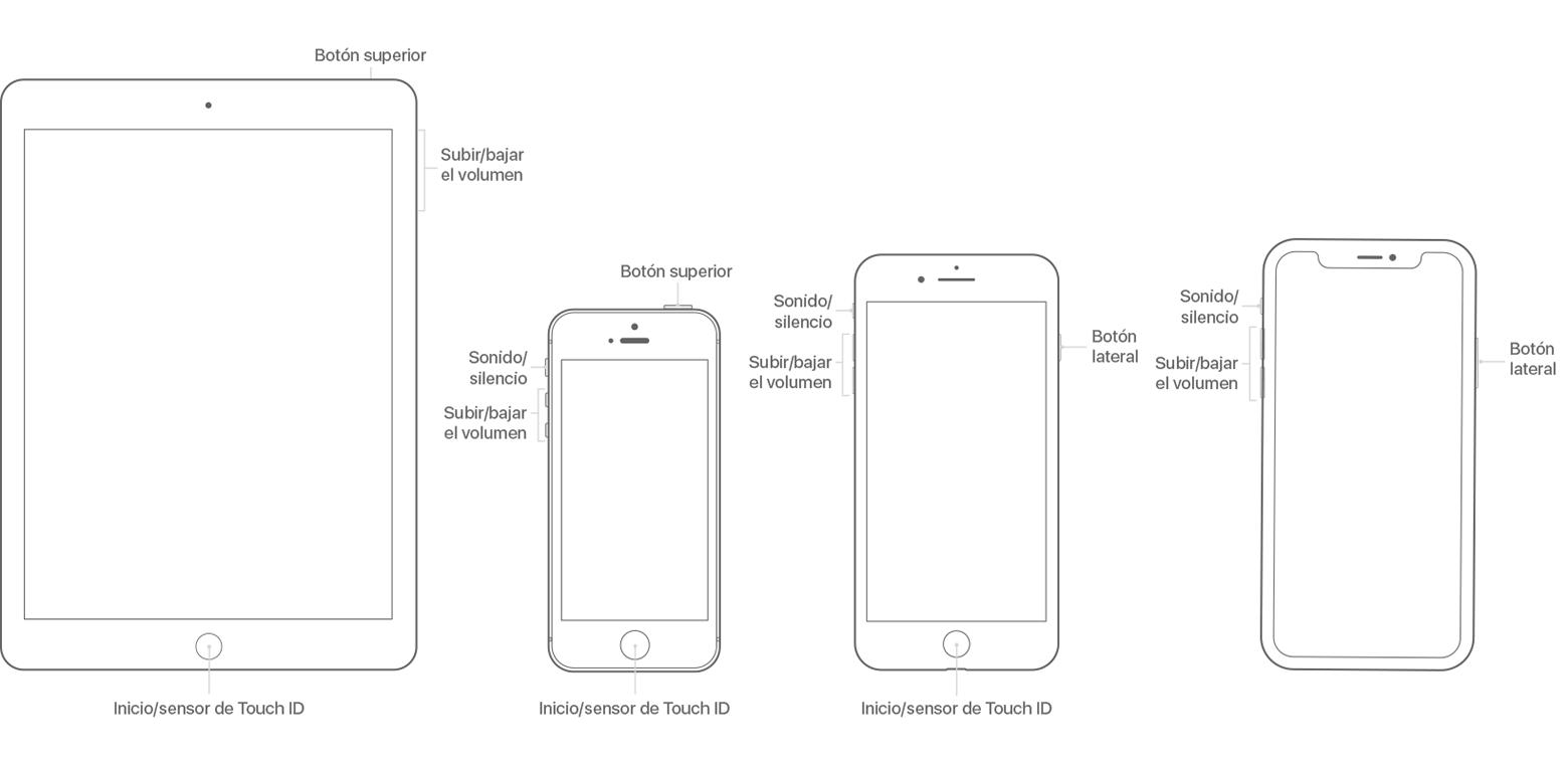 Acerca de los botones e interruptores del iPhone, iPad y iPod ...