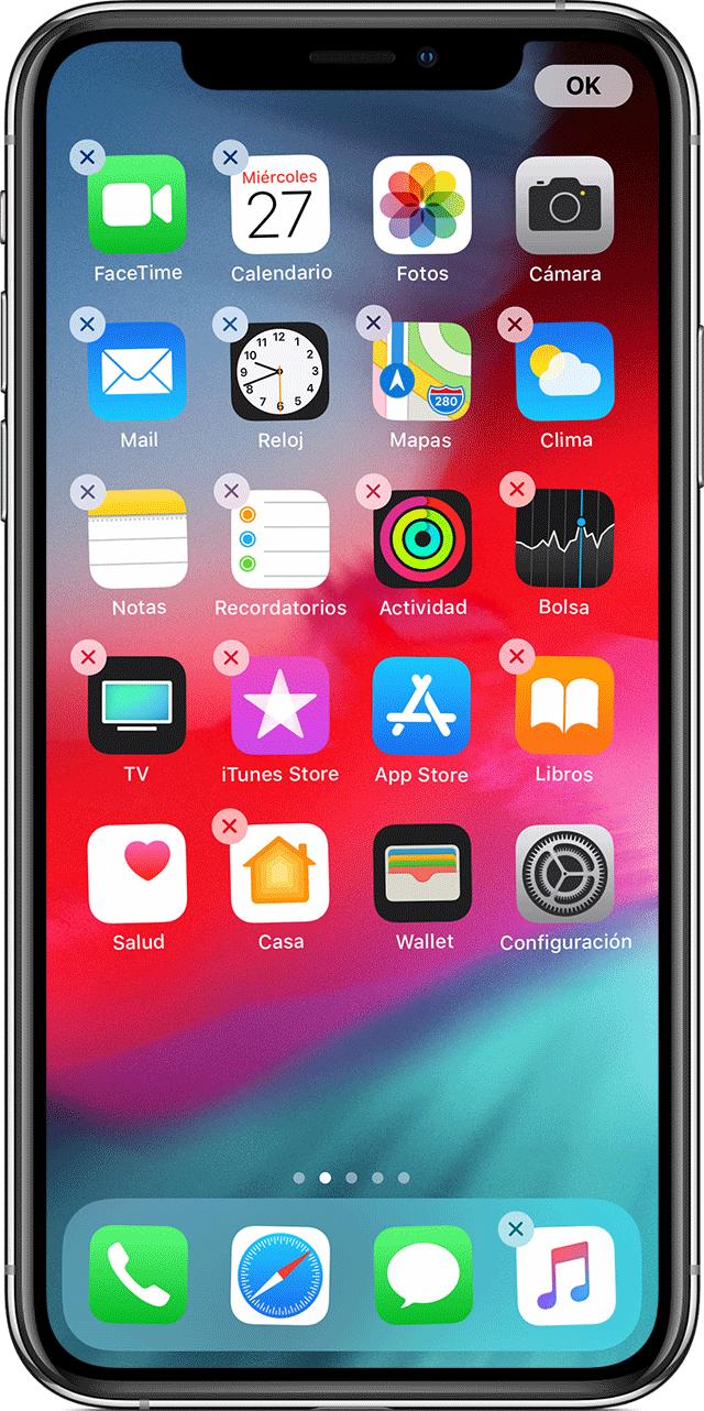 149d84c60fa Cómo mover apps y crear carpetas en el iPhone, iPad o iPod touch ...