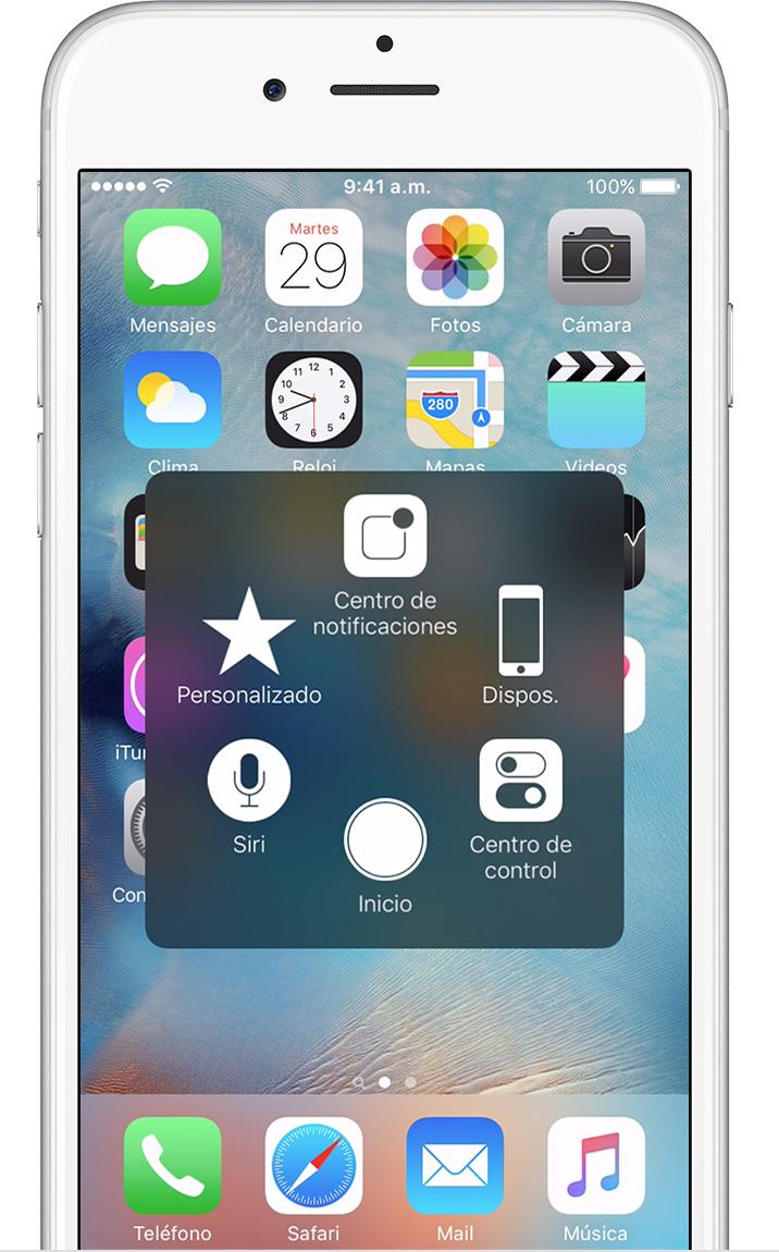 Usar AssistiveTouch en iPhone, iPad o iPod touch - Soporte técnico ...