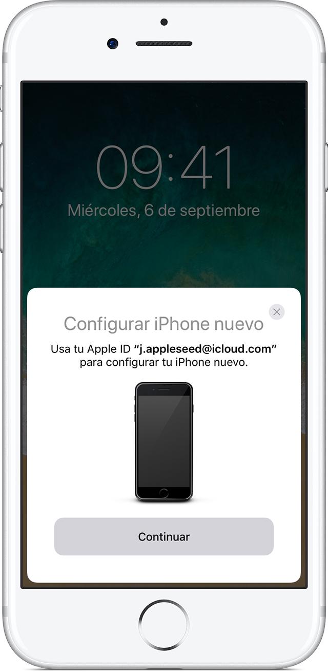 Transferir contenido de tu dispositivo iOS anterior a un nuevo ...