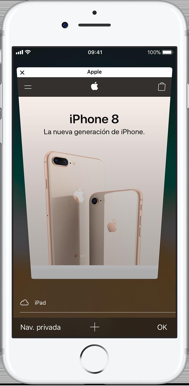 Activar o desactivar la Navegación privada en el iPhone, iPad o iPod ...